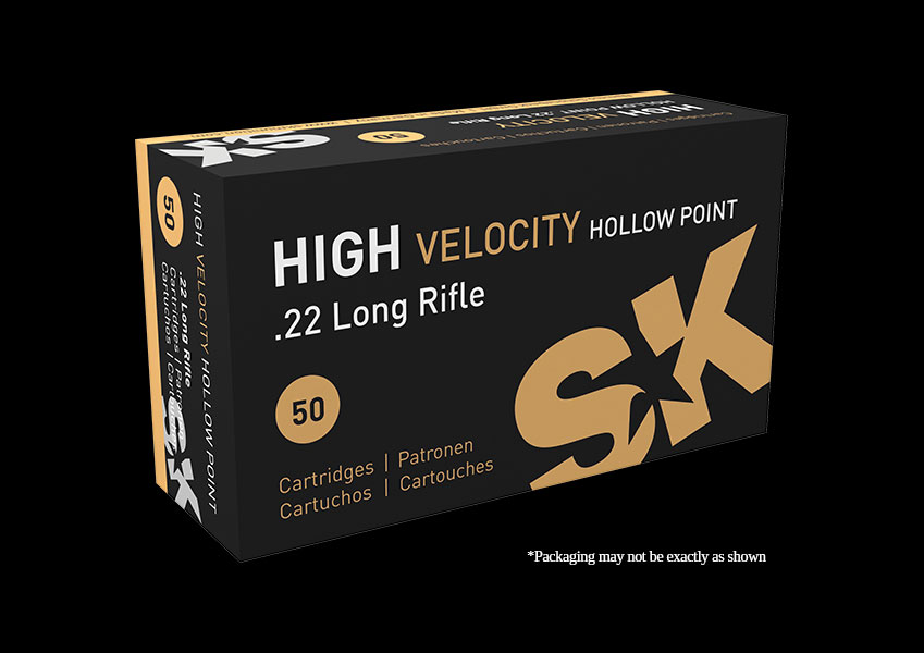 SK - .22LR High Velocity Hollow Point - Box of 50