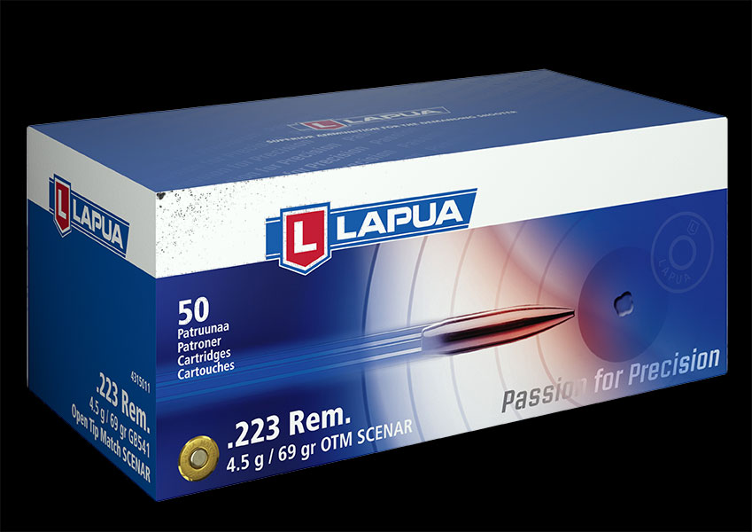 Lapua - Ammunition .223 Rem 69gr. OTM Scenar - GB541- Box of 50