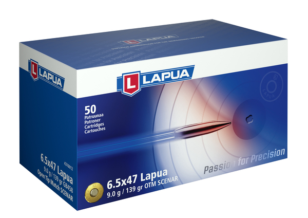 Lapua - Ammunition 6.5X47 Lapua -139 gr. OTM Scenar - Box of 50