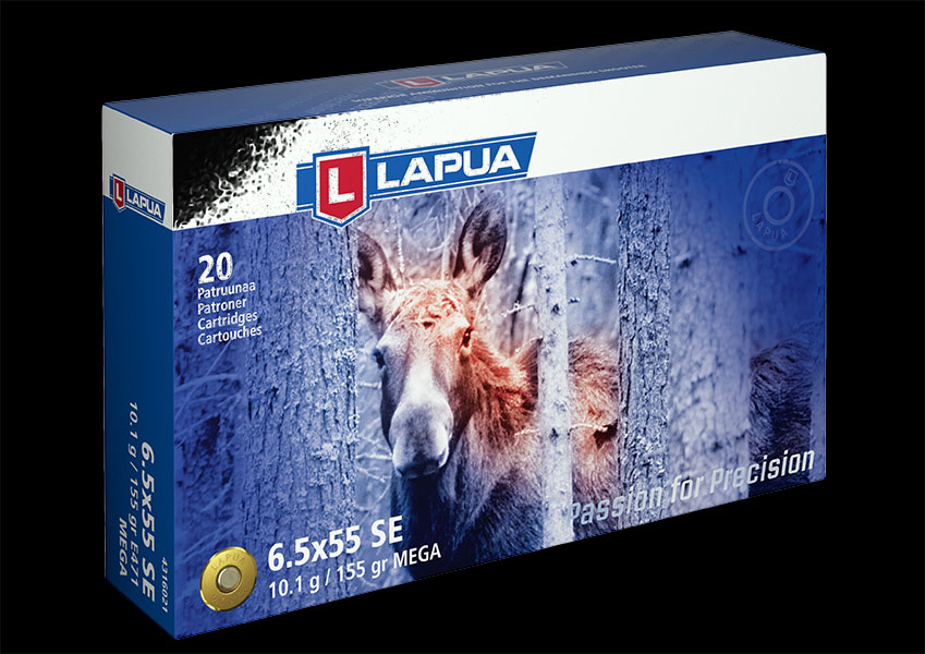 Lapua - Ammunition 6.5x55 SE 155gr. SP Mega - E471 - Box of 20