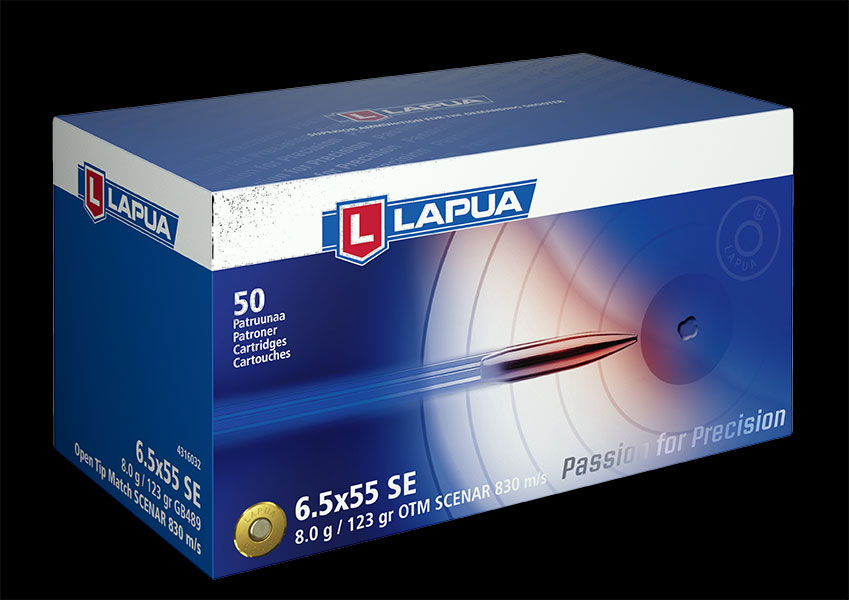 Lapua - Ammunition 6.5x55 SE 123gr OTM Scenar - GB489- Box of 20