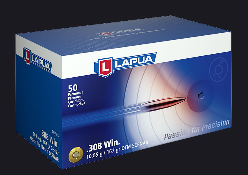 Lapua - Ammunition .308 Win 167gr OTM Scenar - GB422 - Box of 50