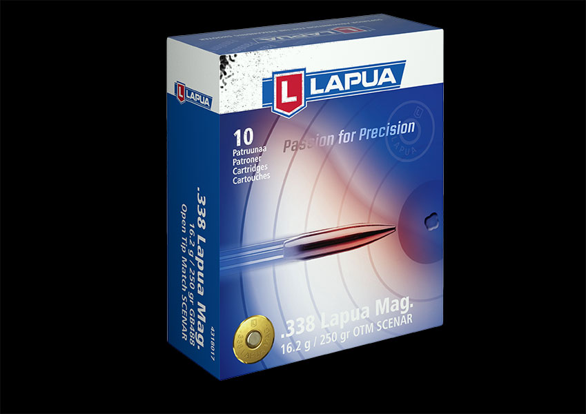 Lapua - Ammunition .338 LM 250gr. Scenar - GB488 - Box of 10