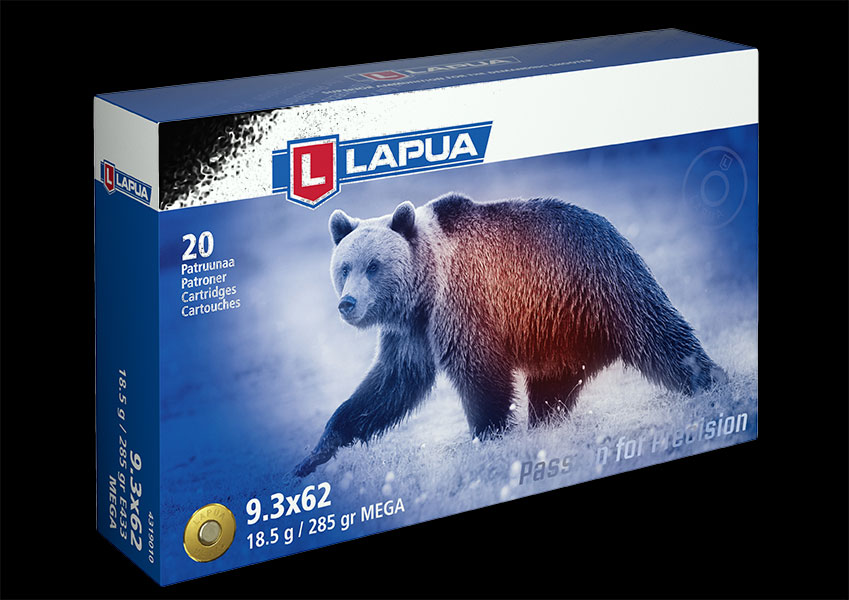 Lapua - Ammunition 9.3x62 285gr. Mega - E433 - Box of 20