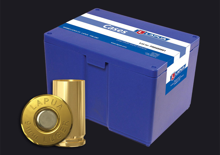 Lapua - 9mm Luger Reloading Cases - Box of 1000