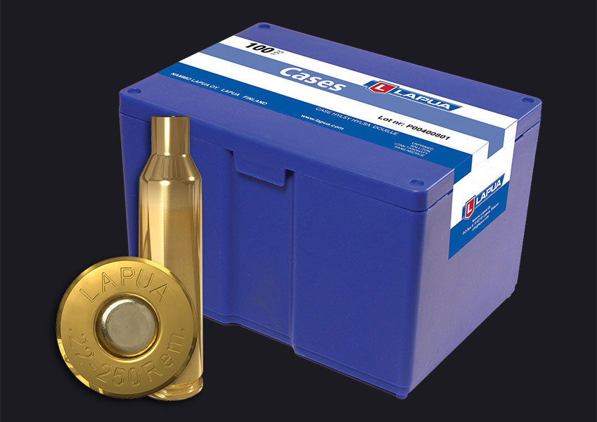 Lapua - .22-250 Rem. Reloading Cases - Box of 100
