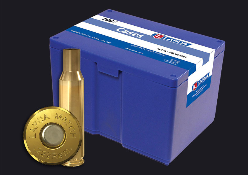 Lapua - .222 Rem. Match Reloading Cases - Box of 100