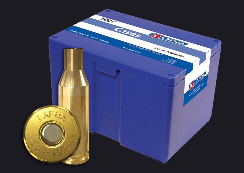Lapua - .220 Russian Reloading Cases - Box of 100