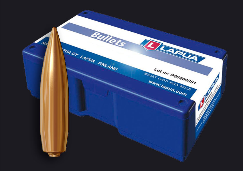 Lapua - .338, 250gr. (16.2g), Lock Base - B408 - Box of 100