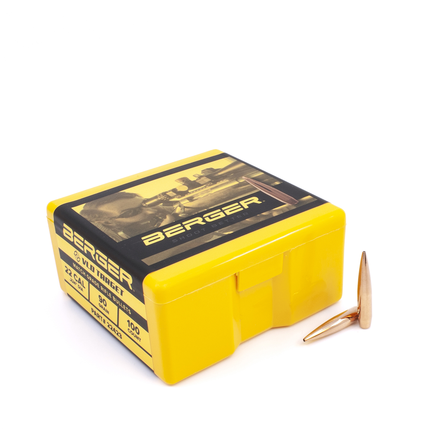 Berger Bullets - .22 cal, 90 gr. VLD Target - Box of 100