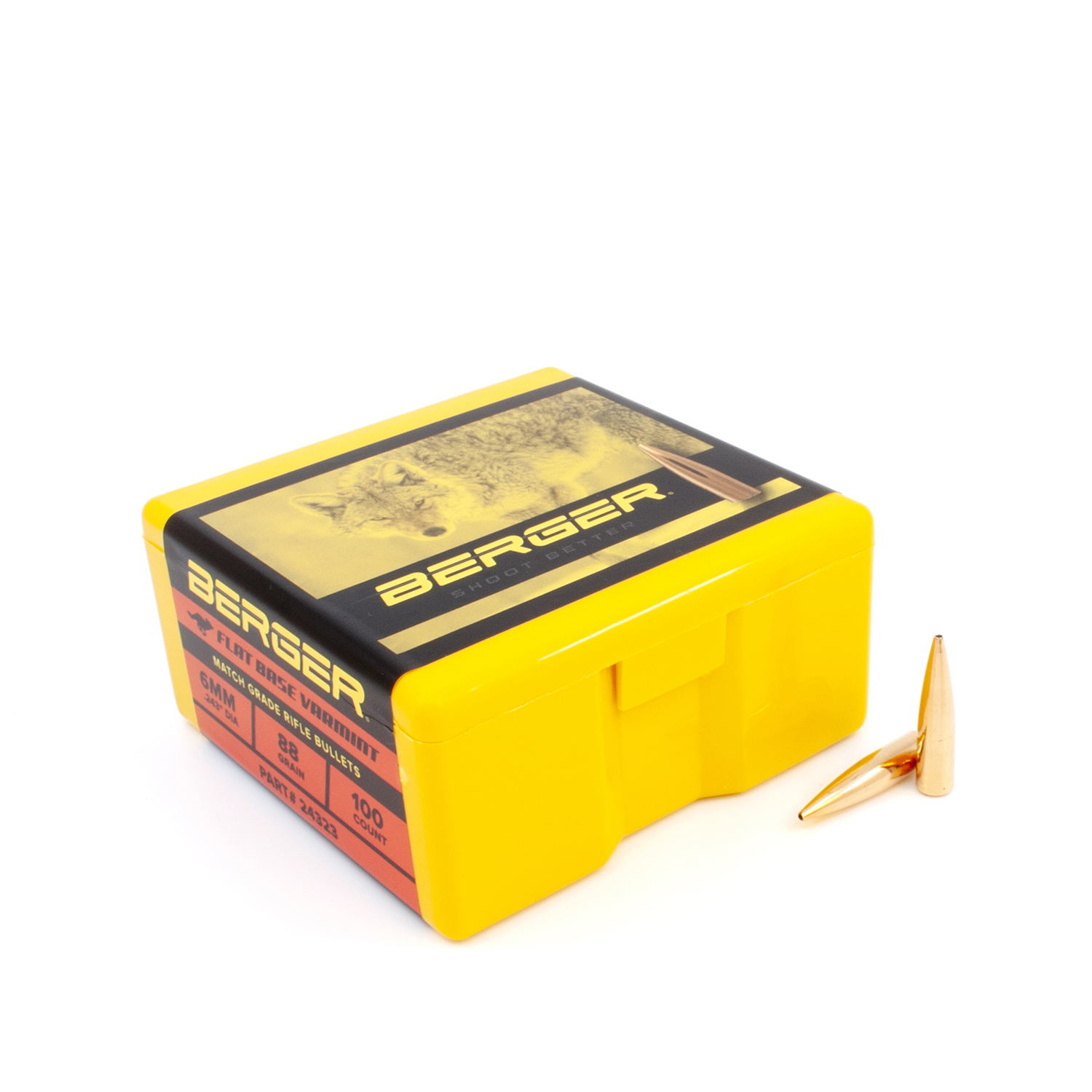 Berger Bullets - 6mm, 88 gr. High BC Varmint FB - Box of 100