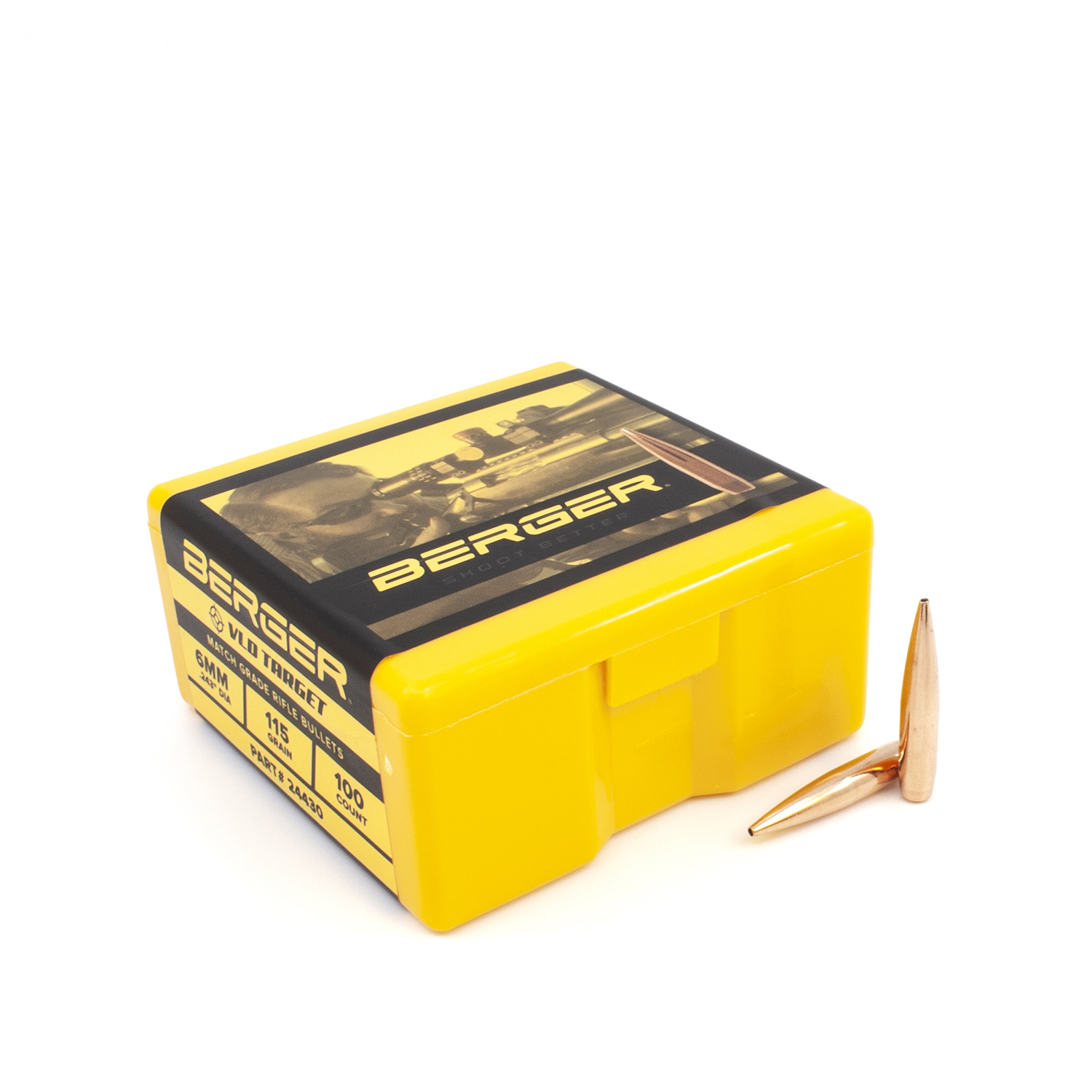 Berger Bullets - 6mm,115 gr. VLD Target - Box of 100