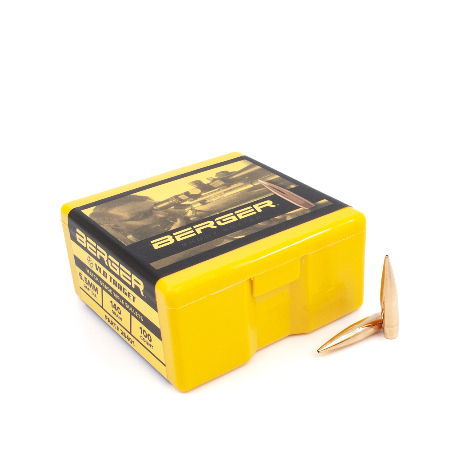 Berger Bullets - 6.5mm, 140 gr. VLD Target - Box of 100
