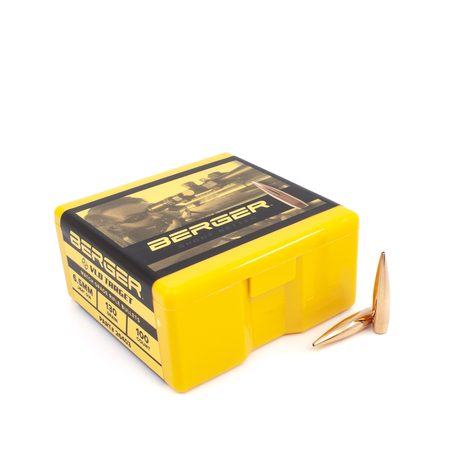 Berger Bullets - 6.5mm, 130 gr. VLD Target - Box of 100