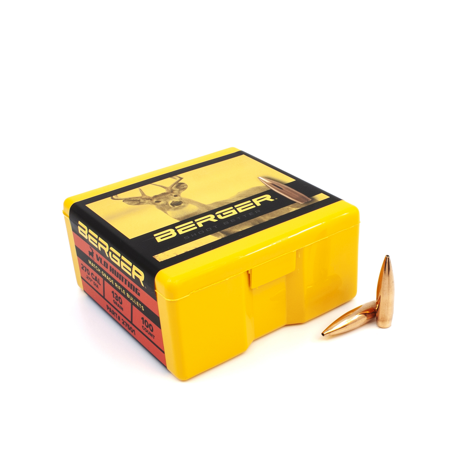 Berger Bullets - .270 cal, 130 gr. VLD Hunting - Box of 100