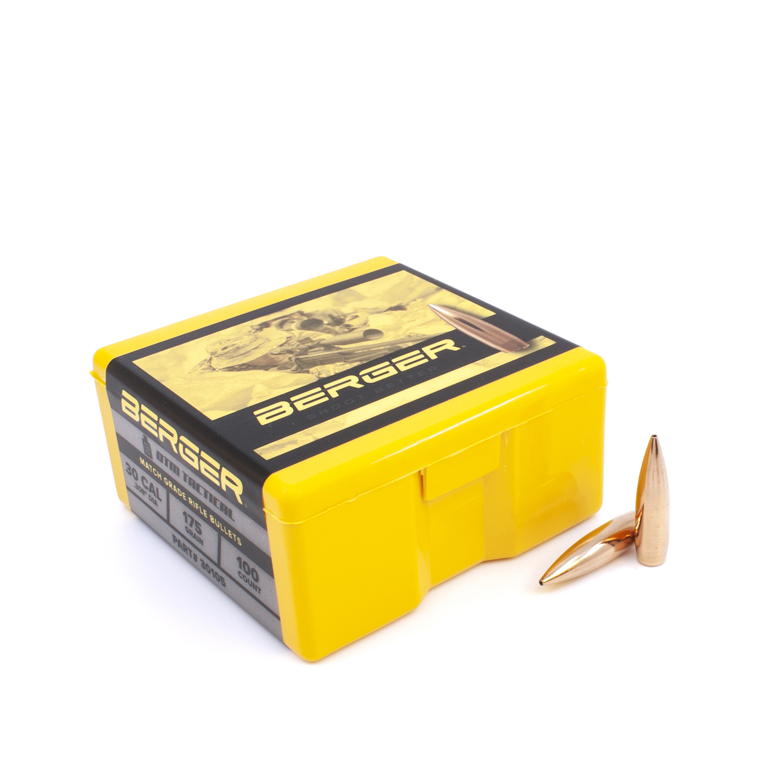 Berger Bullets - .30cal, 175 gr. OTM Tactical - Box of 100