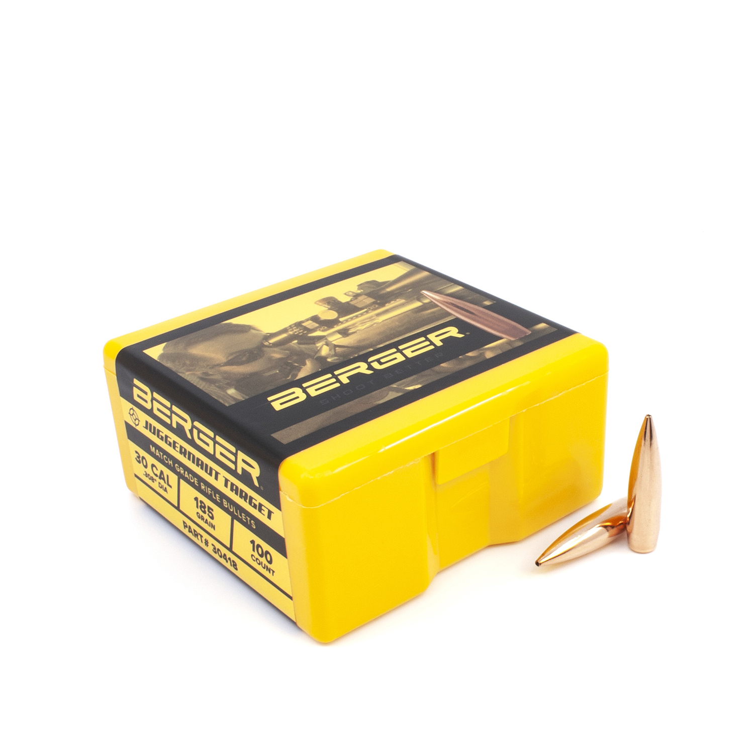 Berger Bullets - .30 cal, 185 gr. Juggernaut Target - Box of 100