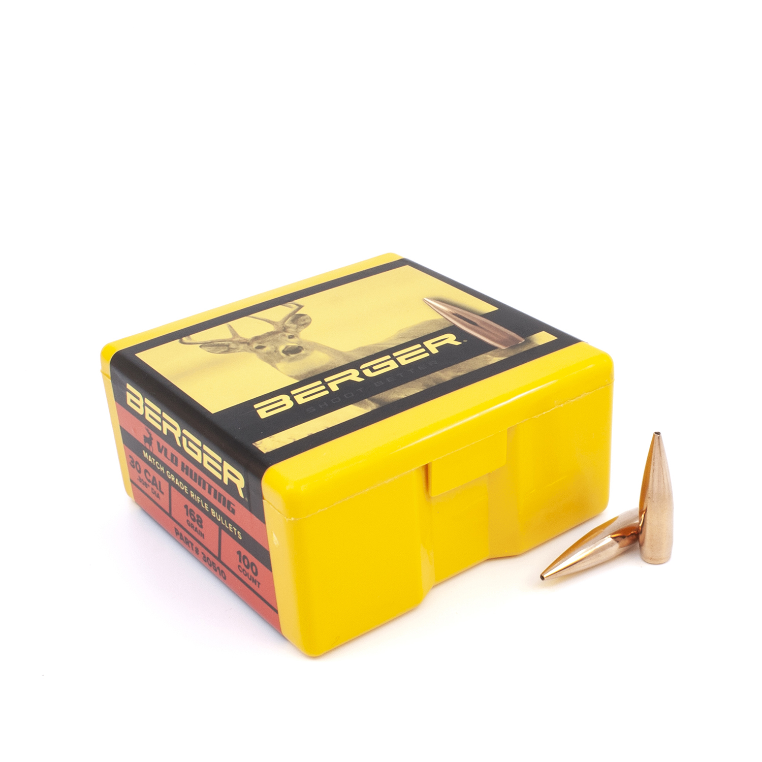 Berger Bullets - .30 cal, 168 gr. VLD Hunting - Box of 100