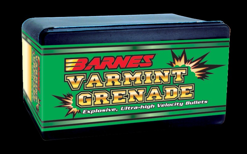 Barnes - Bullets .204, 26gr Varmint Grenade Flat Base-Box of 100
