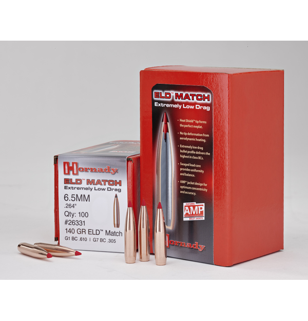 Hornady - Bullets - 6.5mm (.264) 140gr ELD Match - Box of 100