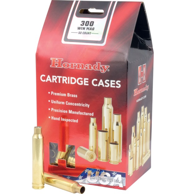 Hornady - Brass - 300 Win Mag Reloading Cases - Box of 50