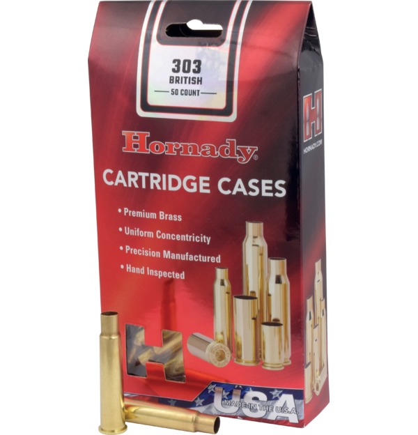 Hornady - Brass - 303 British Reloading Cases - Box of 50