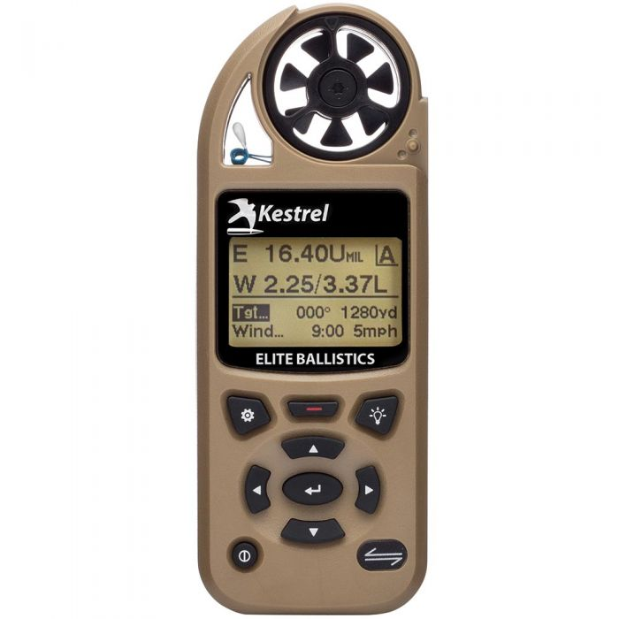 Kestrel 5700 Elite Weather Meter w Applied Ballistics & LiNK TAN