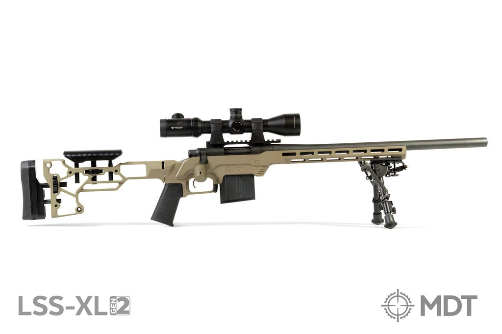 MDT - LSS-XL Gen-2 Chassis for Fixed Stock - Rem 700SA - FDE