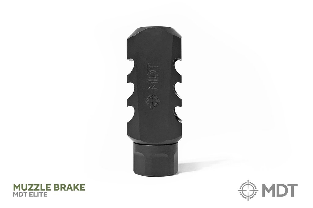 MDT - Elite Hex Muzzle Break .338 Lapua Magnum - 3/4-24