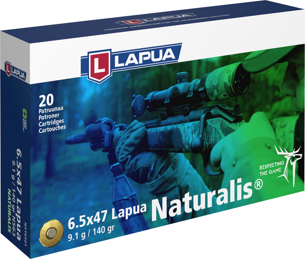 Lapua - Ammunition- 6.5X47 Lapua - 140 gr. Naturalis - Box of 20