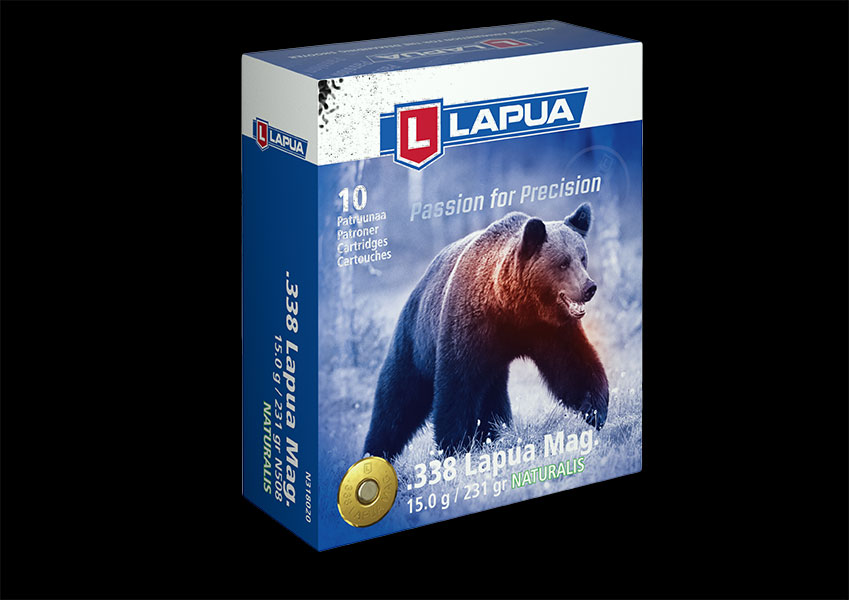 .338 LM 231gr. (15.0g) Naturalis LR - Lapua N508 - Box of 10
